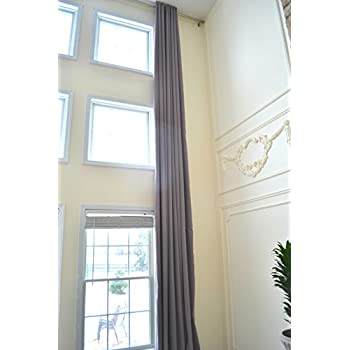 Ikiriska Blackout Extra Long Curtains For 2 Story Living Rooms Wide Insulated Drapes 14