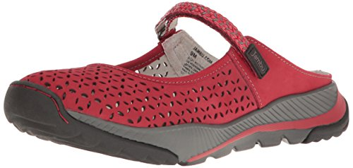 Jambu Women's Bailey Maryjane Flat, Red, 10 M US (Shoes Mary Jane Red)
