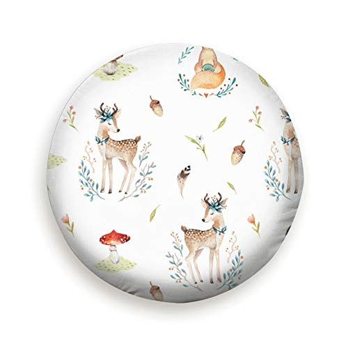 (AndrewTop Cute Baby Foxes Deer Animal Animals Wildlife Watercolor Nature Tire Cover Dot Tire Cover 17 Inch)