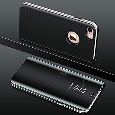 buy popular b2392 b961f for Apple iPhone 7 and iPhone 8 Flip Stand Clear View Standing flip Case  with Smart Mirror Phone Case with Optimized Viewing anglefor Apple iPhone 7  ...