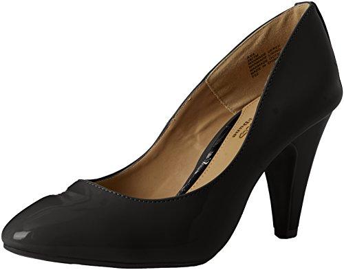 Head Over Heels WoMen Ava Closed-Toe Heels Black (Black Patent)