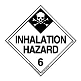 Labelmaster Z-PV29 Inhalation Hazard Hazmat Placard, Worded, Permanent Vinyl (Pack of 25)