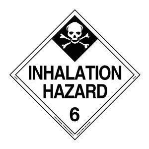 Labelmaster Z-PV29 Inhalation Hazard Hazmat Placard, Worded, Permanent Vinyl (Pack of 25) by Labelmaster®