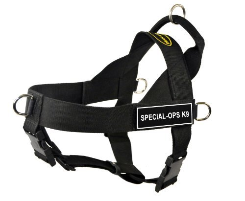 Dean & Tyler Universal No Pull 36-Inch to 47-Inch Dog Harness, X-Large, Special-Ops K9, Black ()