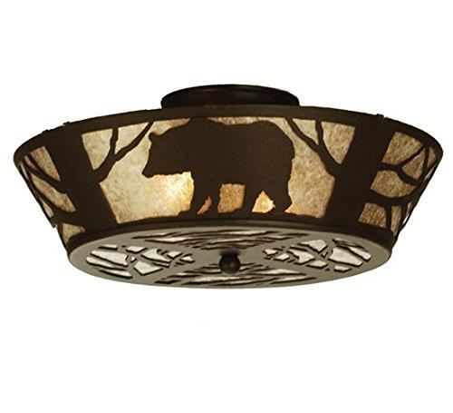 - Meyda Tiffany 51328 Bear on The Loose Flush Mount Light Fixture, 16