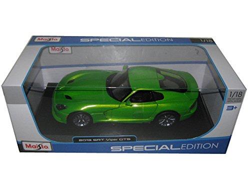 2013-dodge-viper-gts-green-1-18-by-maisto-31128
