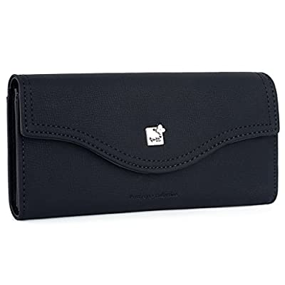 "UTO Women PU Leather Wallet Large Capacity 5.5"" Zipper Phone Case Card Holder Organizer Purse"