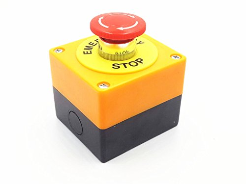 - AC 660V 10A Plastic Shell Red Sign Emergency Stop Mushroom Push Button Switch