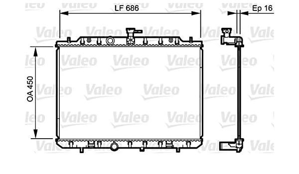 Amazon.com: VALEO Engine Cooling Radiator 735205 Fits NISSAN X-Trail Suv 2007-: Automotive