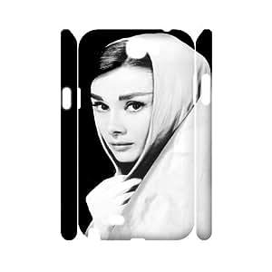 J-LV-F Audrey Hepburn Customized Hard 3D Case For Samsung Galaxy Note 2 N7100