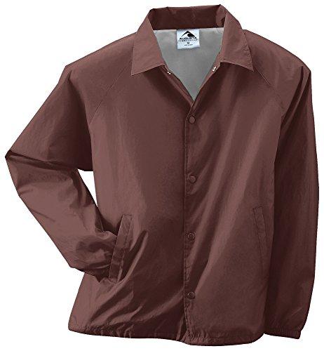 Augusta Sportswear Unisex-Adult Nylon Coach's Jacket/Lined, Brown, -