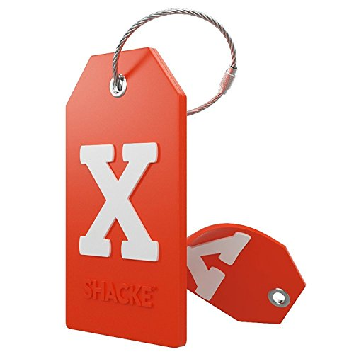 Initial Luggage Tag with Full Privacy Cover and Stainless Steel Loop...