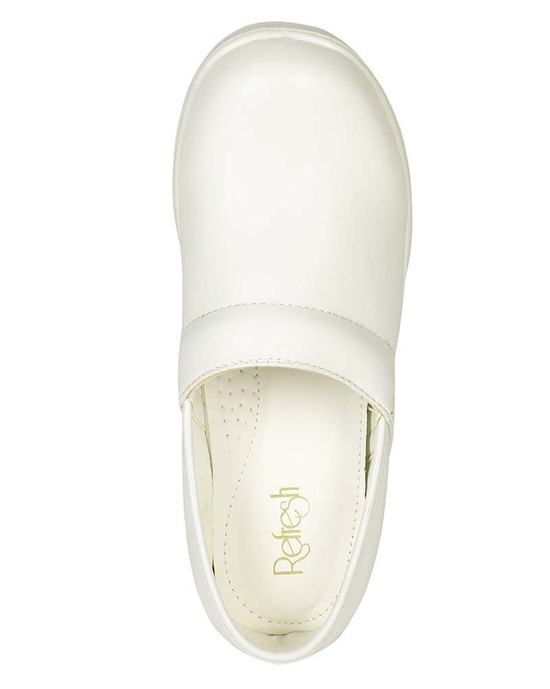Refresh Women Leatherette Round Toe Slip On Clog BH36 - White (Size: 8.0) by Refresh (Image #4)