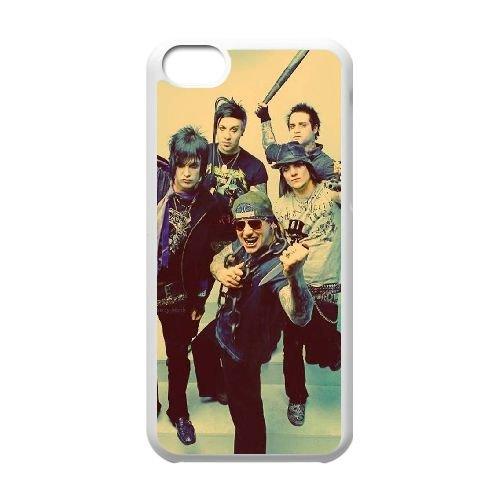 T3H00 Avenged Sevenfold A7Y0JQ cas d'coque iPhone de téléphone cellulaire 5c couvercle coque blanche DH2SUV8YY