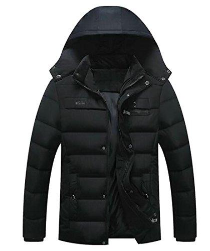 today Down Winter Puffer Jacket Zip Full Mens Black Thicken UK Coats Hooded wqwOrH8