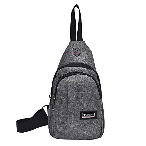 Small Theft Bag Chest Bags Size WILLTOO Men Handbag Travel Gray Fashion Anti Bag gFwqaA