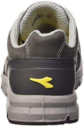 Diadora Run Low S3 Src - Calzado de protección de Piel para hombre Gris (Grigio Castello)