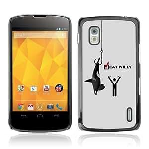Designer Depo Hard Protection Case for LG Nexus 4 E960 / Whale Message