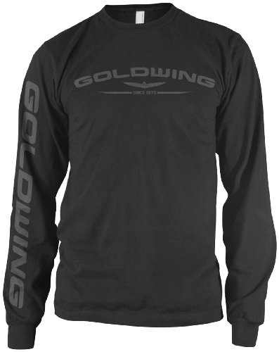 Honda Mens Goldwing Long-Sleeve Shirt, Black, (Honda Goldwing T-shirts)
