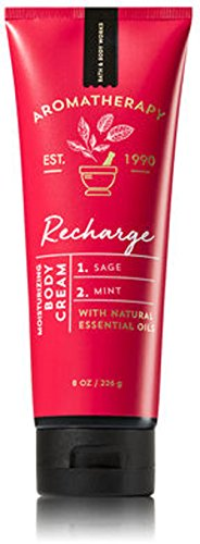 Bath and Body Works Aromatherapy Cream Recharge Sage and Mint 8 Ounce Full (Body Works Mint)