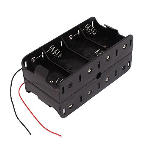 1.5V D Size Battery Box - TOOGOO(R) Dual Wires Double Sides Storage Case Box for 8 x 1.5V D Size Battery