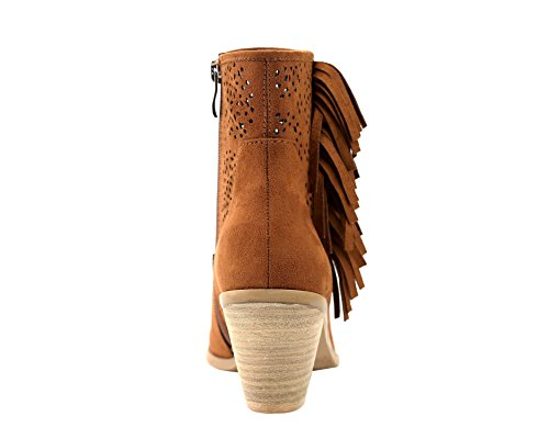 Fringe Perforated Side Tremont M Miller ' Botines 11 Cognac Olivia US B conac OqHYXwIO