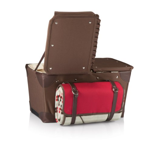 Picnic Time 'Pioneer' Original Design Picnic Basket with Deluxe Service for Two, Moka Collection