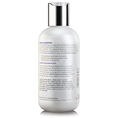 Purple Shampoo for Blonde Hair by GBG – Blonde Shampoo Instantly Eliminate Brassiness & Yellows - Brighten Blonde, Silver & Grey w/Celebrity Stylist Created Blue Toning Shampoo – 8oz - FDA Approved