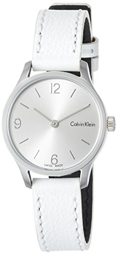 Calvin Klein Endless watch K7V231L61 steel silver dial leather strap
