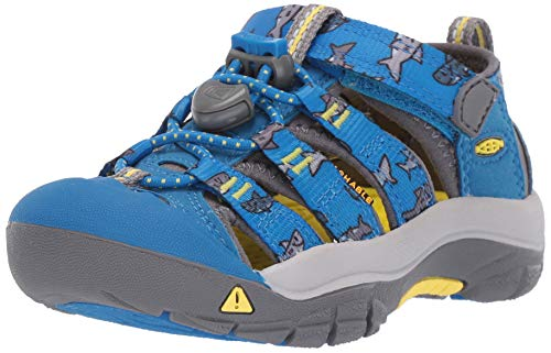 - KEEN Baby Newport H2 Water Shoe, Vibrant Blue Sharks, 5 M US Toddler
