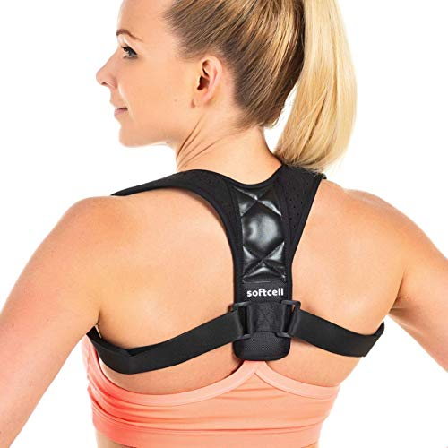Softcell Posture Corrector for Women & Men - with Underarm Pads - Against Bad Posture, Hunching & Back Pains - Shoulder Support Back Brace for Upper Back Pain Relief - Sizes for Different Body Frames