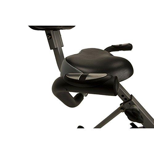 Home Recumbent Exercise Bike Folding 300SR Black Exerpeutic