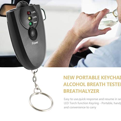 Led Alcohol Breath Tester - MuLuo Portable Mini Alcohol Breath Tester Breathalyzer Analyzer Detector Keychain Keyring LED Flashlight