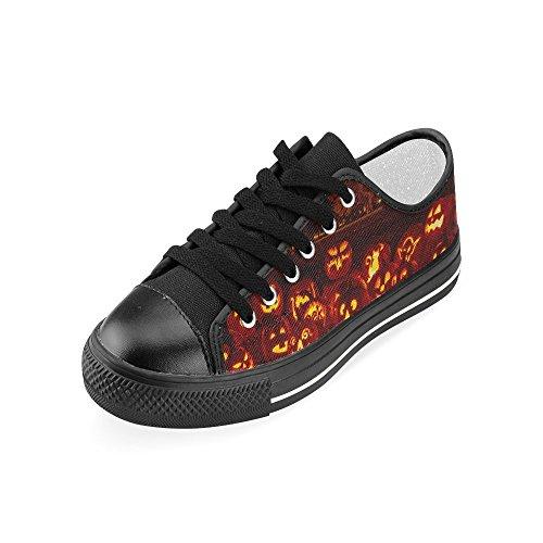 D-historien Tilpasset Happy Halloween Gresskar Kvinnenes Klassiske Canvas Sko Mote Sneaker Multicoloured13