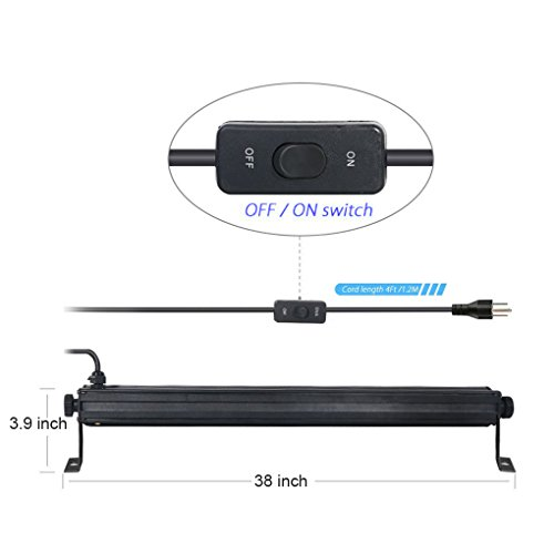 UV-LED-light-Bar-with-9LEDx3W-Black-Light-Metallic-Black