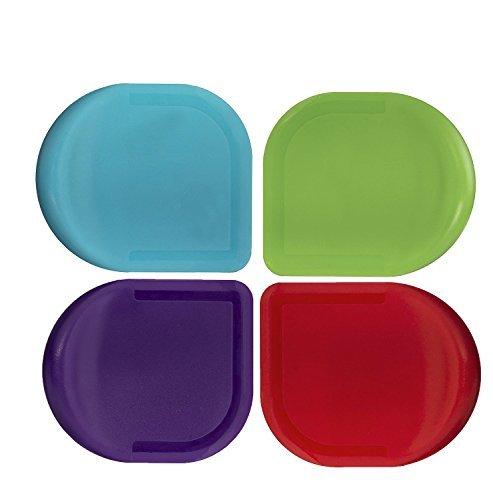 Progressive International Colored Pan Scraper (Set of 4 Assorted Colors) (4 Plastic Pans)