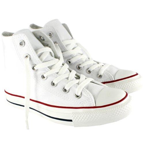 Heren Converse All Star Hi Top Chuck Taylor Chucks Sneaker Trainer - Optisch Wit - 7