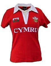 Wales Welsh Short Sleeve Ladies Rugby Shirt (14-16)