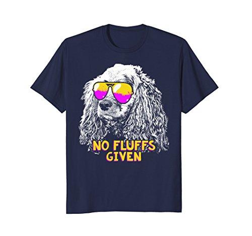 Mens Cocker Spaniel No Fluffs Funny Shirt Large Navy