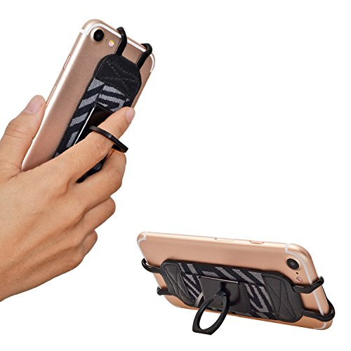 TFY Security Hand Strap with 360°Rotation Metal Ring Finger-Grip Holder & Stand for iPhone 6 / iPhone 6s / iPhone 7