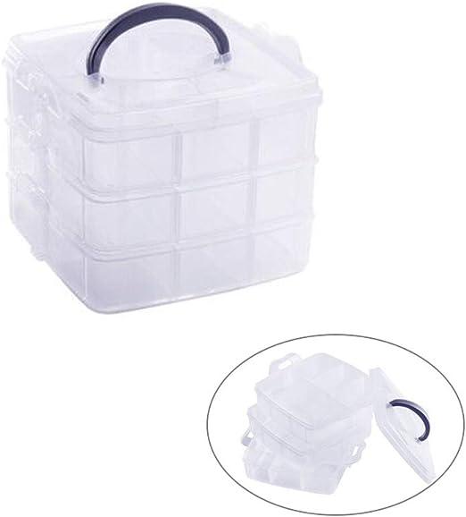 WANDIC Caja de Almacenamiento, Organizador portátil de plástico ...