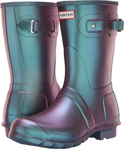 womens hunter rain boots blue - 7