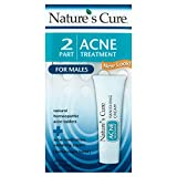 Nature's Cure Two-Part Acne Treatment System for Males 1 month supply (Quantity of 3) For Sale
