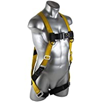 Guardian Fall Protection 1704 Velocity Economy Harness HUV Pass Thru Chest and Tongue Buckle Legs, X-Large/XX-Large