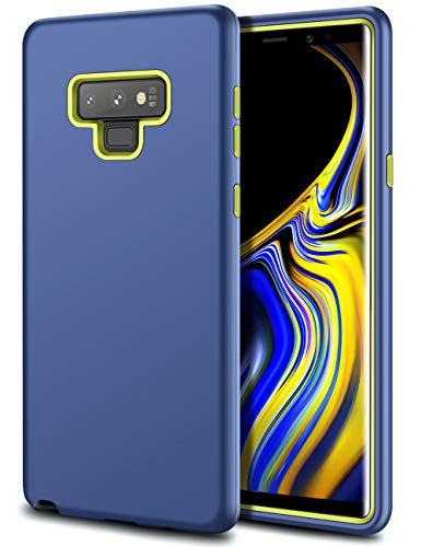HoneyAKE Heavy Duty Case for Galaxy Note 9 Case Three Layer Drop Resistant Rugged Tough Anti-Fingerprint Anti Slip Protective Phone Cover Case for Samsung Galaxy Note 9(Navy)