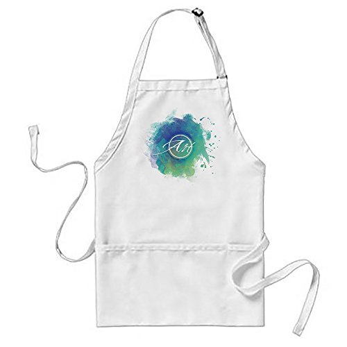 Sunningq Watercolor In Blue Art Smock Adult Apron ()