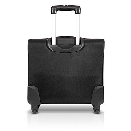 Mobilis Lady Spinner Koffer mit Rollen (für Notebooks mit Bildschirmdiagonale 35,6-40,6 cm (14-16 Zoll) pink/schwarz