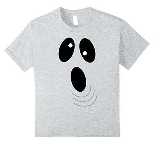 Kids Ghoul Face Funny Halloween Costume T-shirt 8 Heather (Crazy 8 Halloween Costumes 2017)