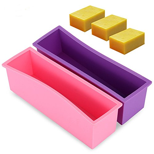 SuperStores 1pc 26.1x7.2x 8cm 1.2L Silicone Soap Mold 3D Rectangular Fondant Cake Bread Loaf Chocolate Mold Christmas Baking Tools