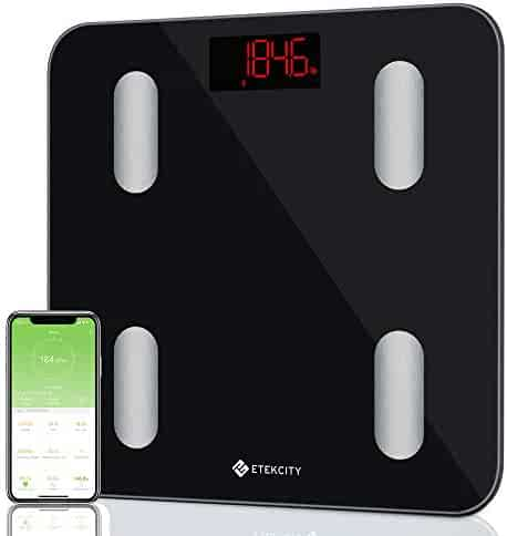 Etekcity Smart Bluetooth Body Fat Scale - FDA Approved -Digital Wireless Weight Bathroom Scale, Body Composition Analyzer with app for Weight, BMI, Body Fat%, Water, Muscle Mass, Bone Mass